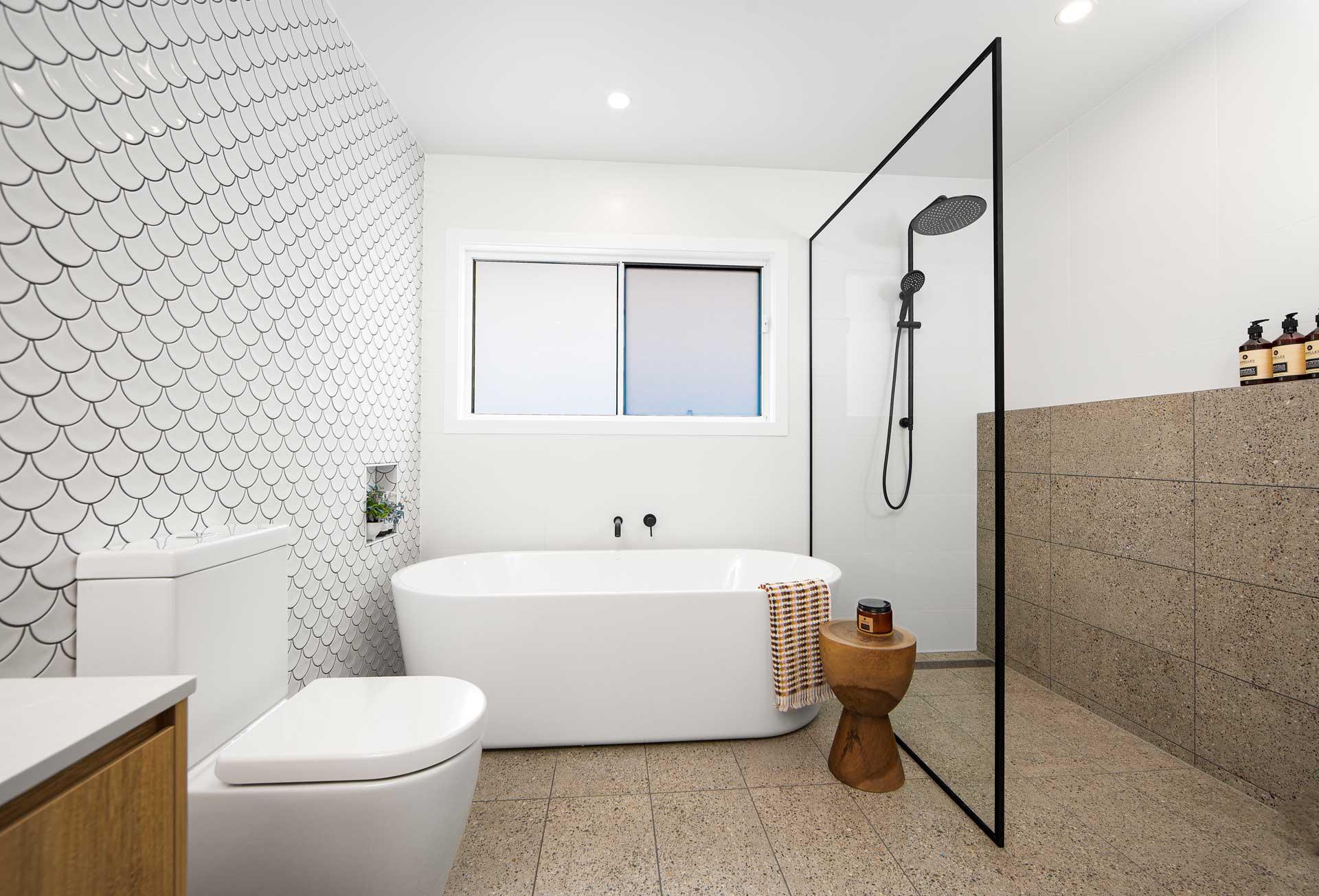 the rules of modern bathroom design  gj gardner homes