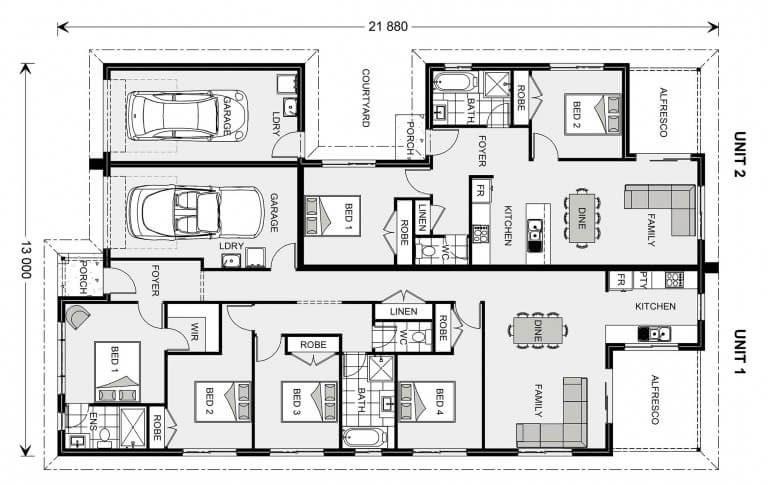 Dual Occupancy Home Designs G J Gardner Homes